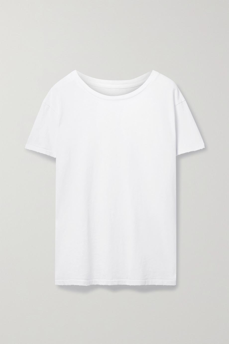 Nili Lotan Brady distressed cotton-jersey T-shirt
