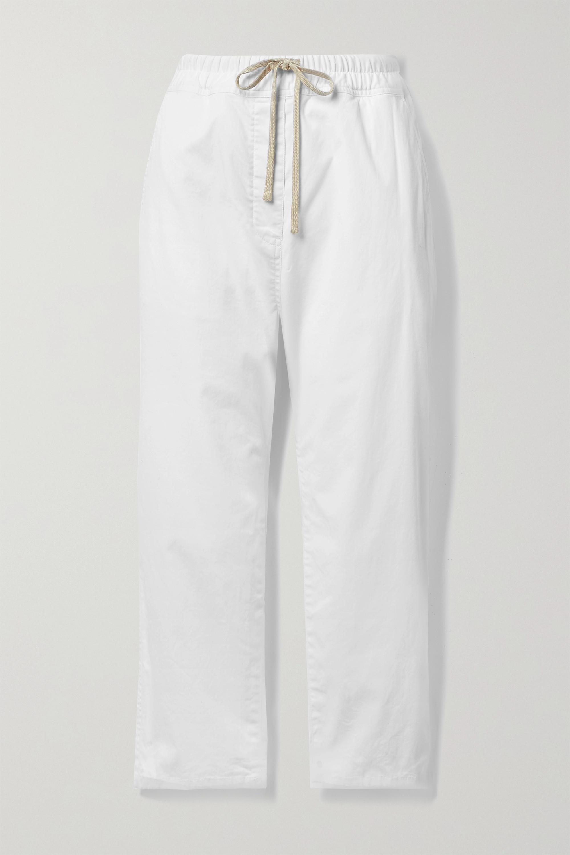 Nili Lotan Pantalon raccourci en serge de coton mélangé Casablanca