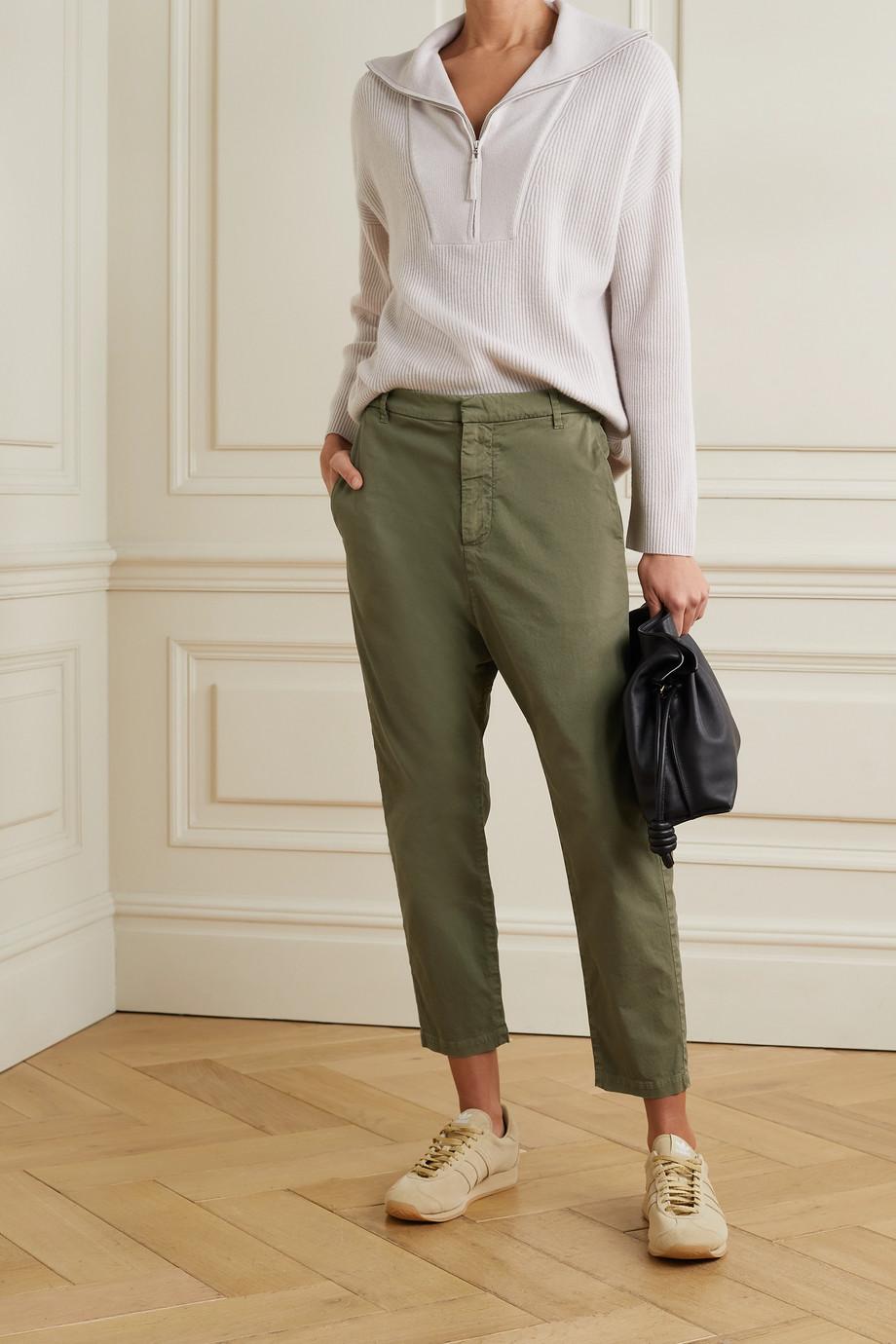 Nili Lotan Pantalon raccourci en serge de coton mélangé Paris
