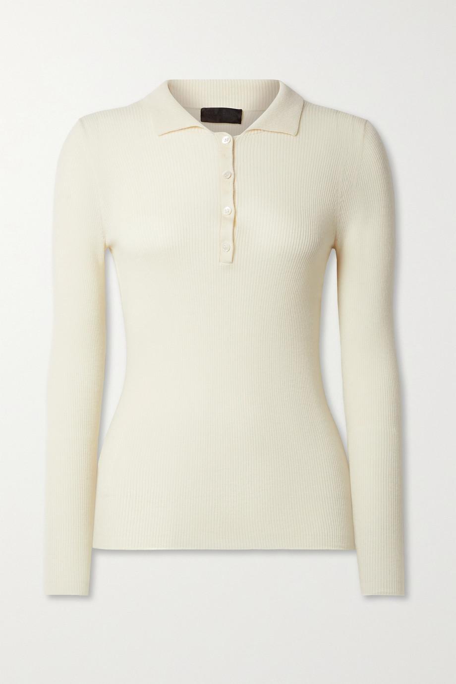 Nili Lotan Daisy ribbed merino wool, silk and cashmere-blend sweater
