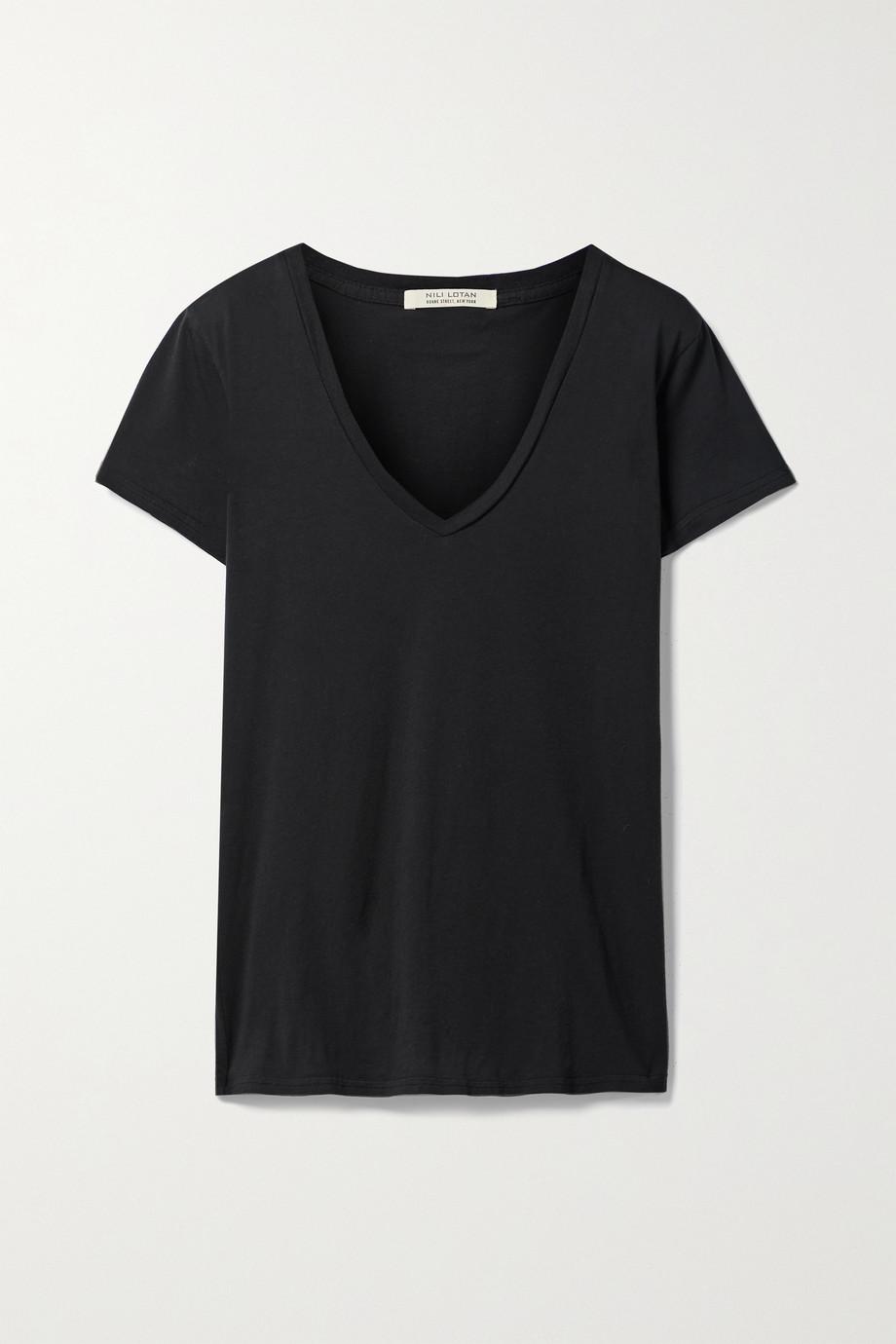Nili Lotan Carol cotton-jersey T-shirt