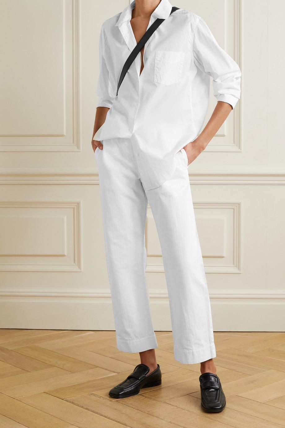 Nili Lotan Kristen cotton-poplin shirt