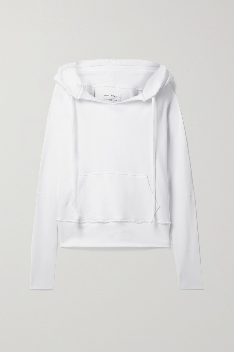 Nili Lotan Sweat à capuche en jersey de coton effet vieilli Janie