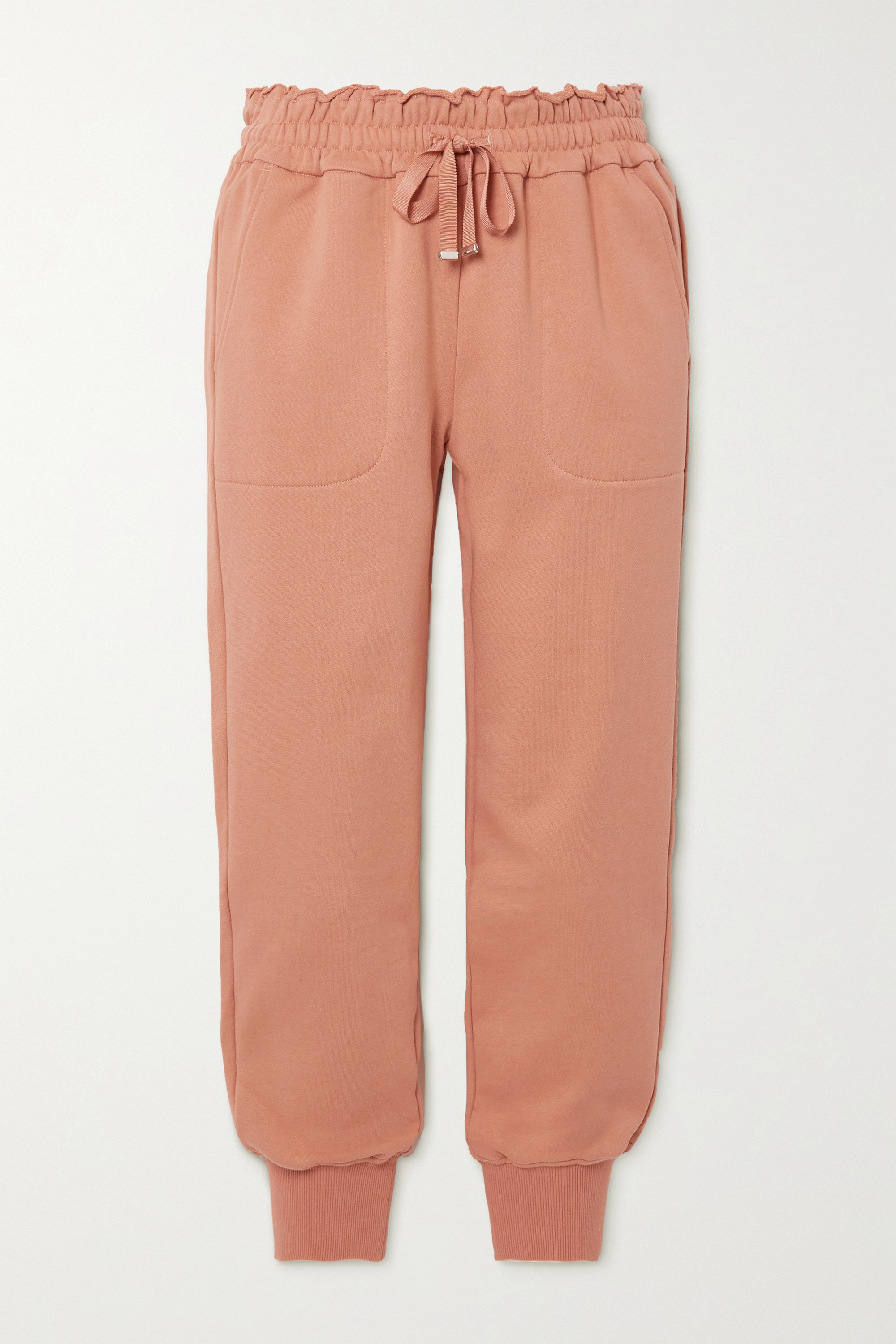 Cami NYC - Lynley French cotton-terry track pants