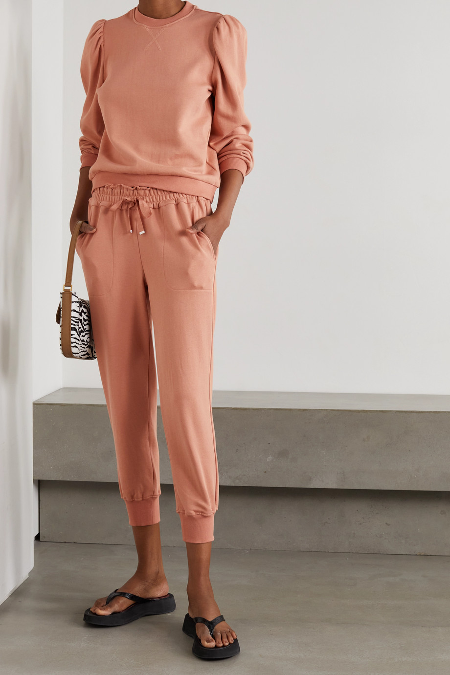 Cami NYC Lynley French cotton-terry track pants