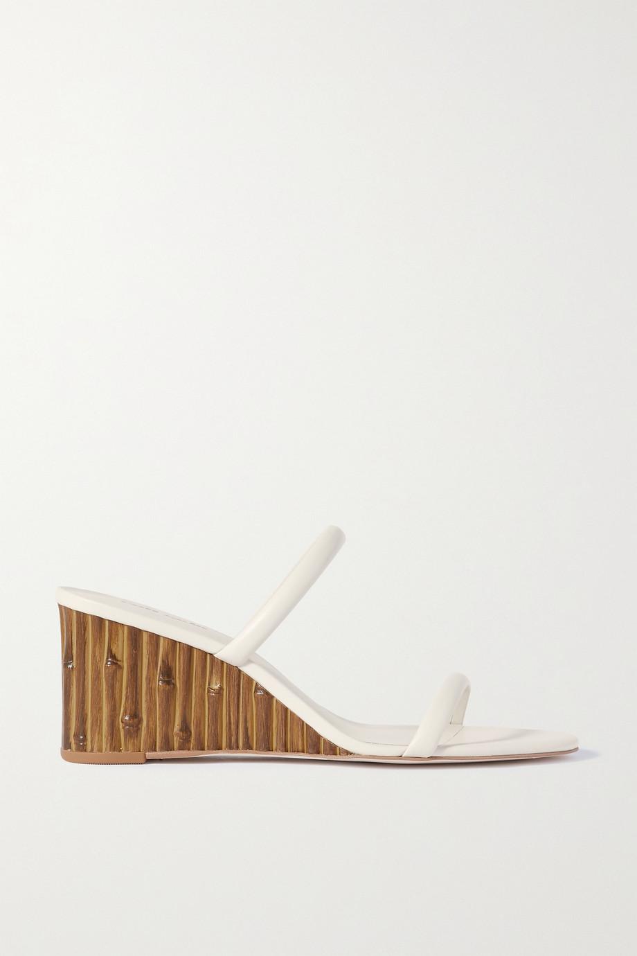 Cult Gaia Eva leather wedge sandals