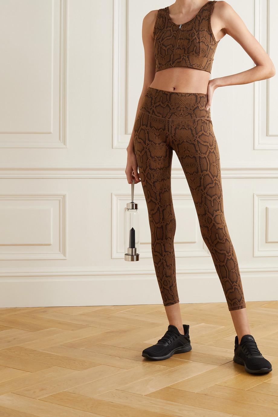 Varley Luna snake-print stretch leggings