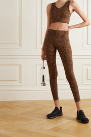 Varley Luna snake-print stretch leggings