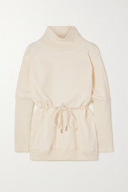 Varley Adelaine stretch-cotton jersey turtleneck sweatshirt