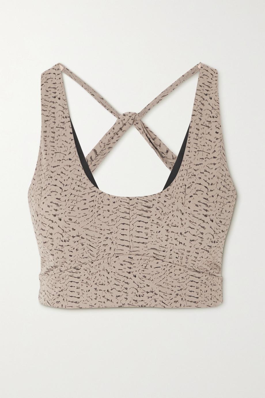 Varley Cary printed stretch sports bra