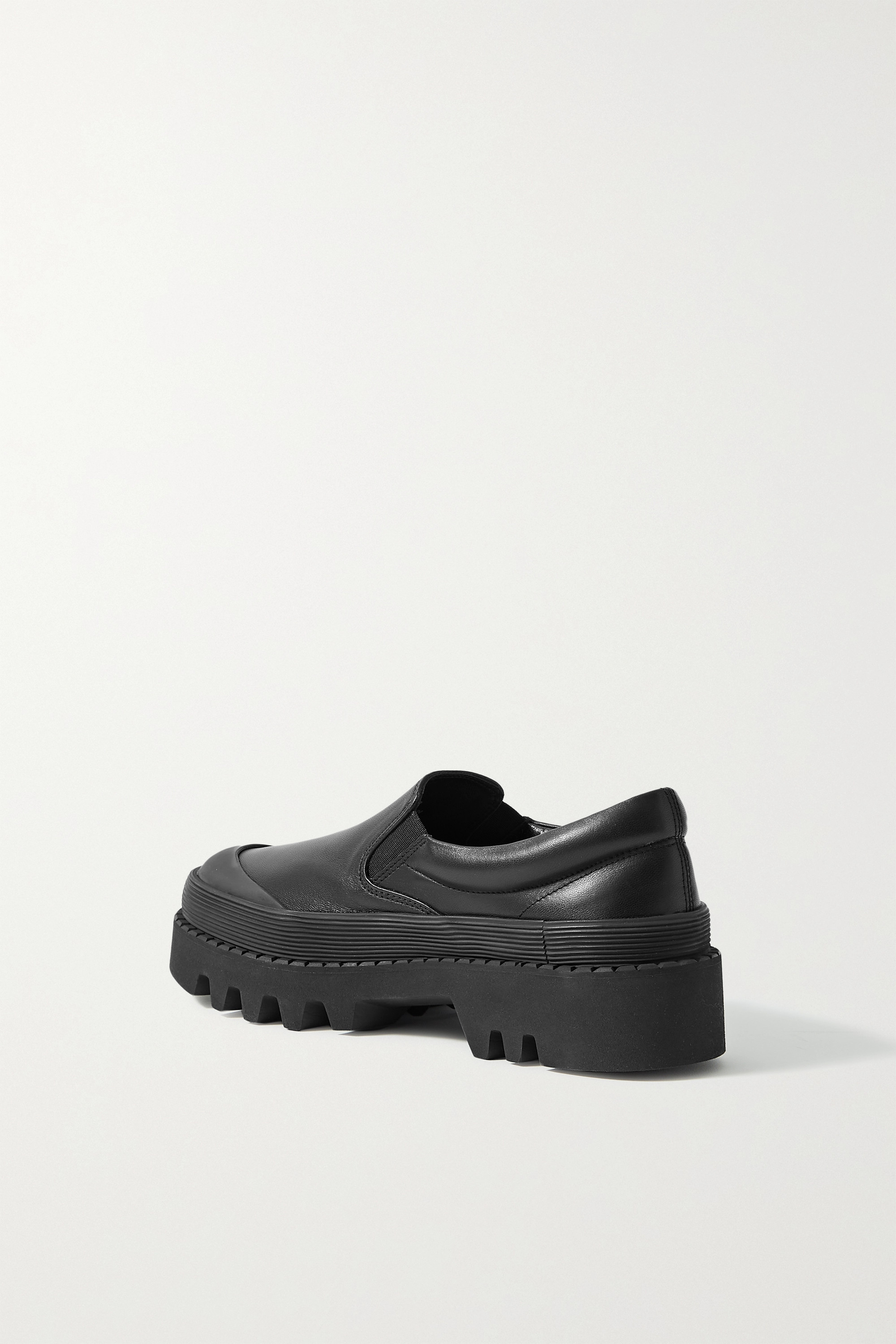 Proenza Schouler City rubber-trimmed leather loafers