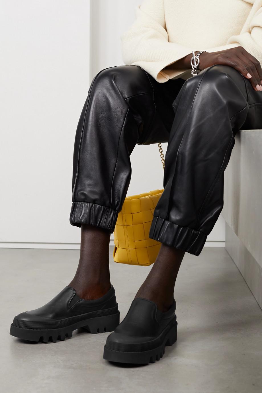 Proenza Schouler City Loafers aus Leder mit Gummibesatz