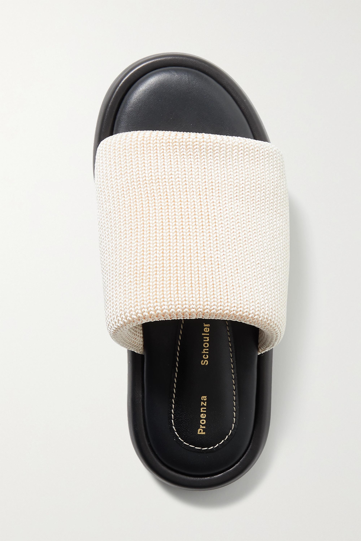 Proenza Schouler Pipe stretch-knit slides