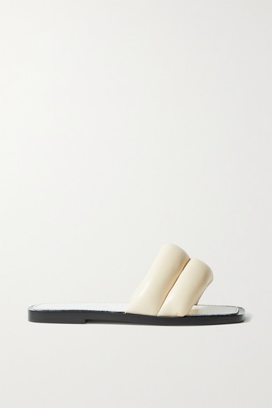 Proenza Schouler Shoes PUFFY QUILTED LEATHER SLIDES