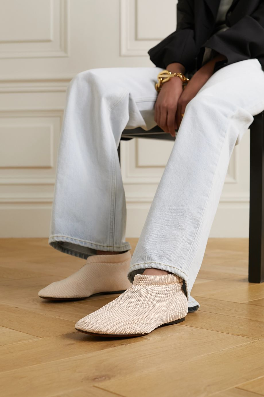 Proenza Schouler Chaussures plates en mailles stretch Rondo