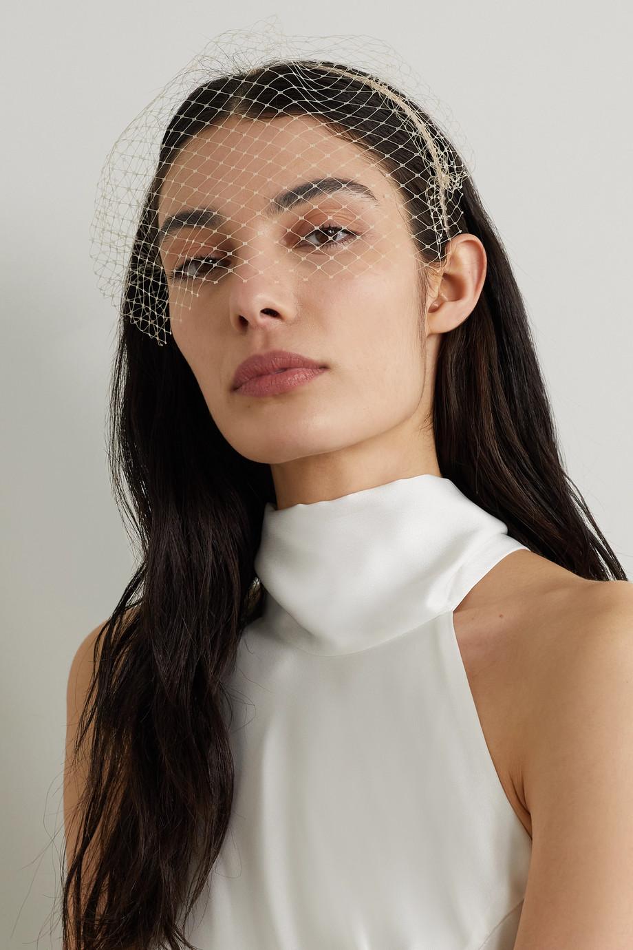 Gigi Burris Rachel Haarreif aus Ripsband mit Tüllbesatz