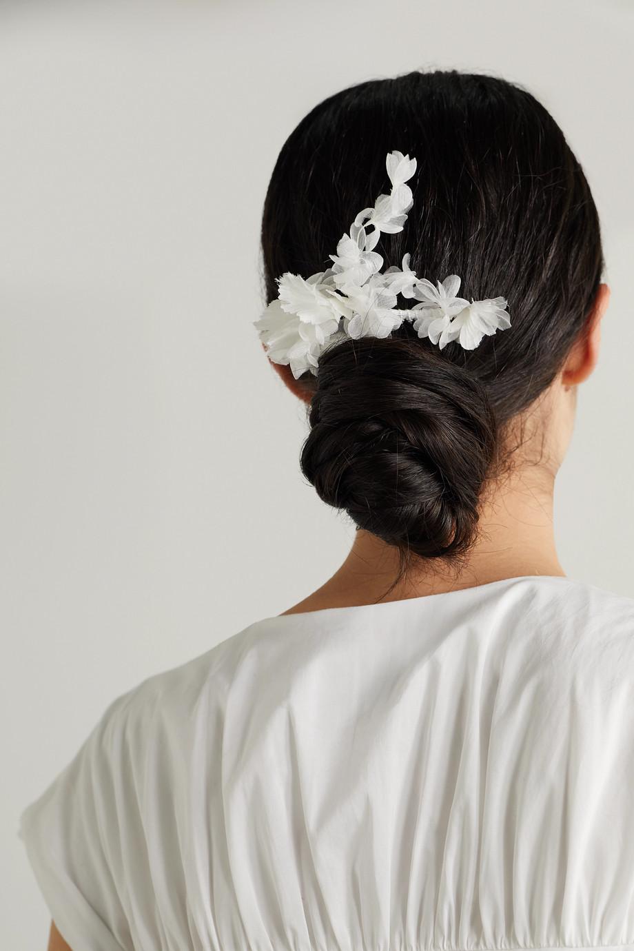 Gigi Burris Haarkamm aus Seide und Ripsband aus Baumwolle
