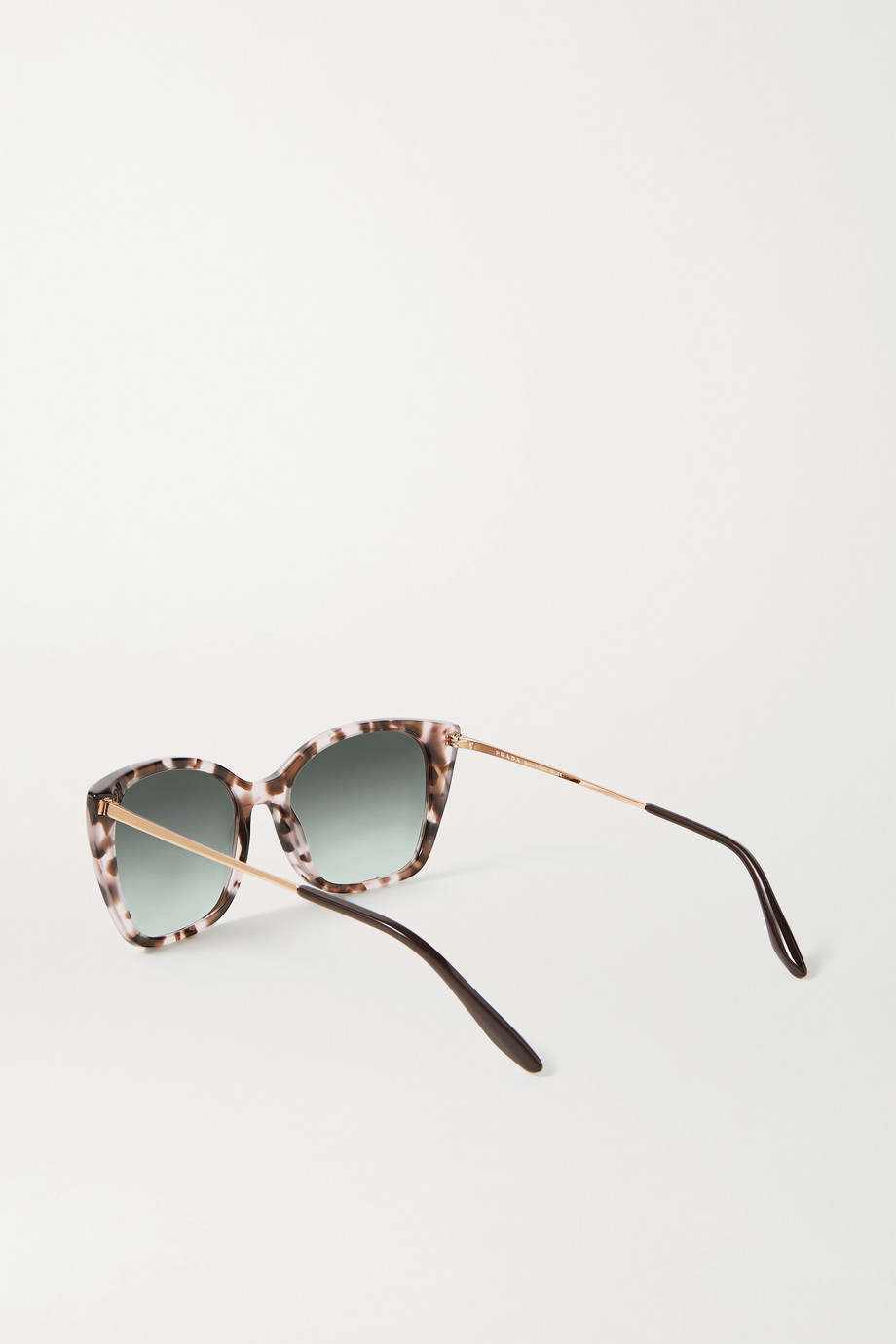 Prada Eyewear Cat-eye tortoiseshell acetate and gold-tone sunglasses