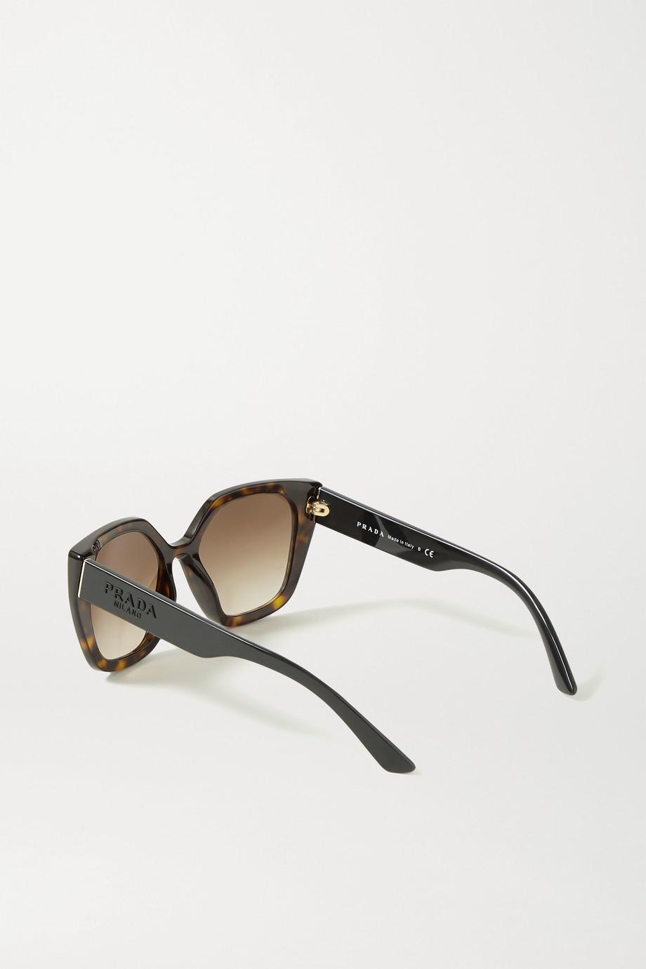 Prada Eyewear Square-frame tortoiseshell acetate sunglasses