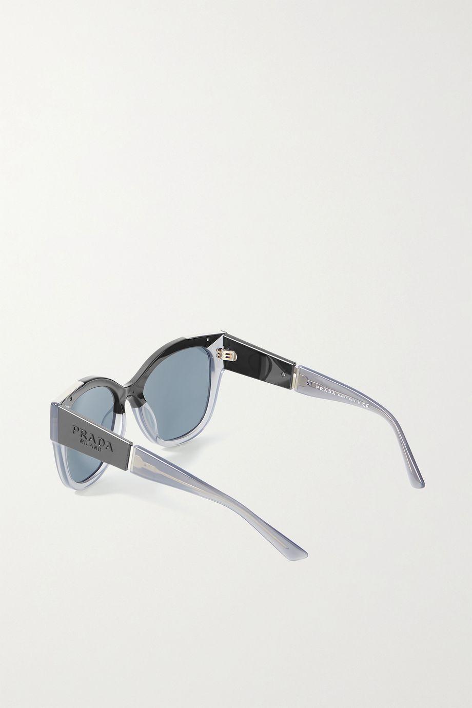 Prada Eyewear Cat-eye acetate and silver-tone sunglasses