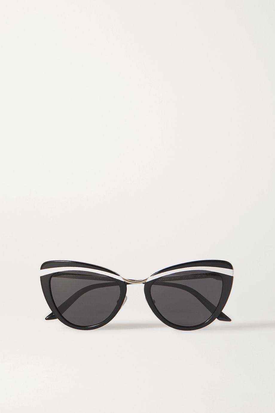Prada Eyewear Cinema Evolution cat-eye acetate and gold-tone sunglasses