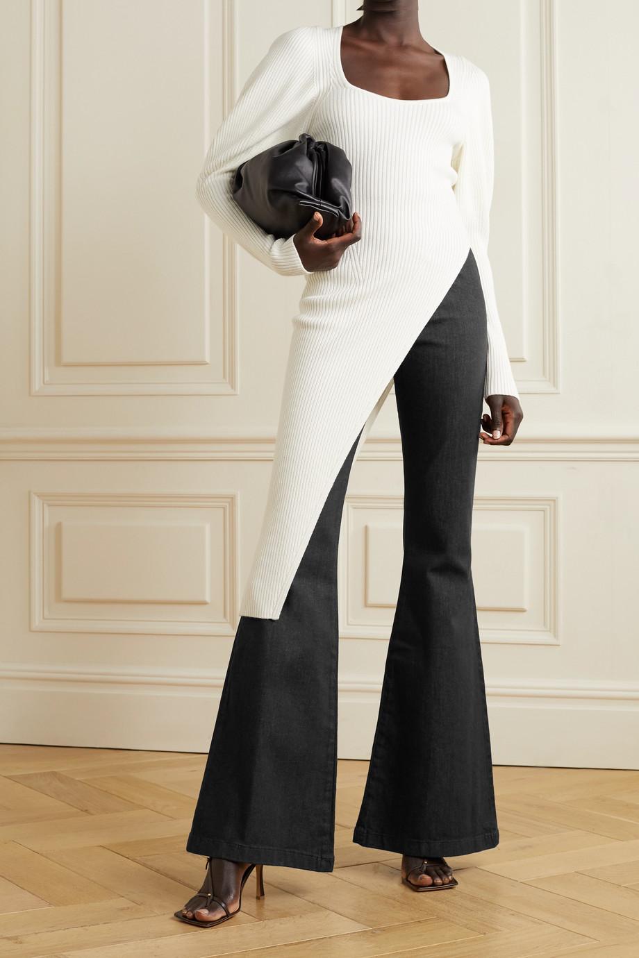 Safiyaa Halluana stretch-denim flared pants