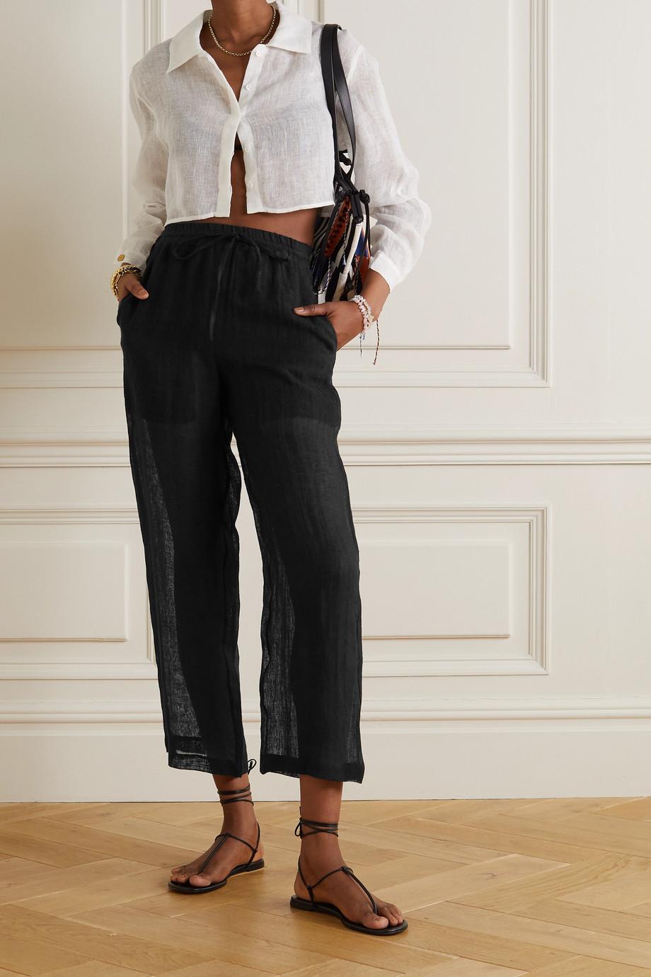 Le Kasha + NET SUSTAIN Yaffa organic linen wide-leg pants