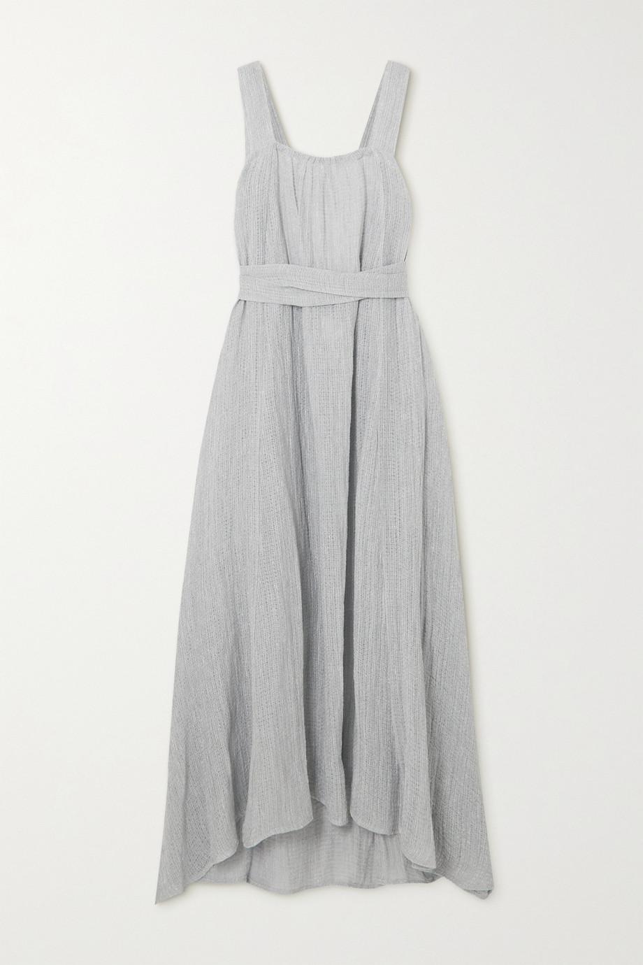 Le Kasha Robe dos ouvert en lin biologique à ceinture Assiout - NET SUSTAIN