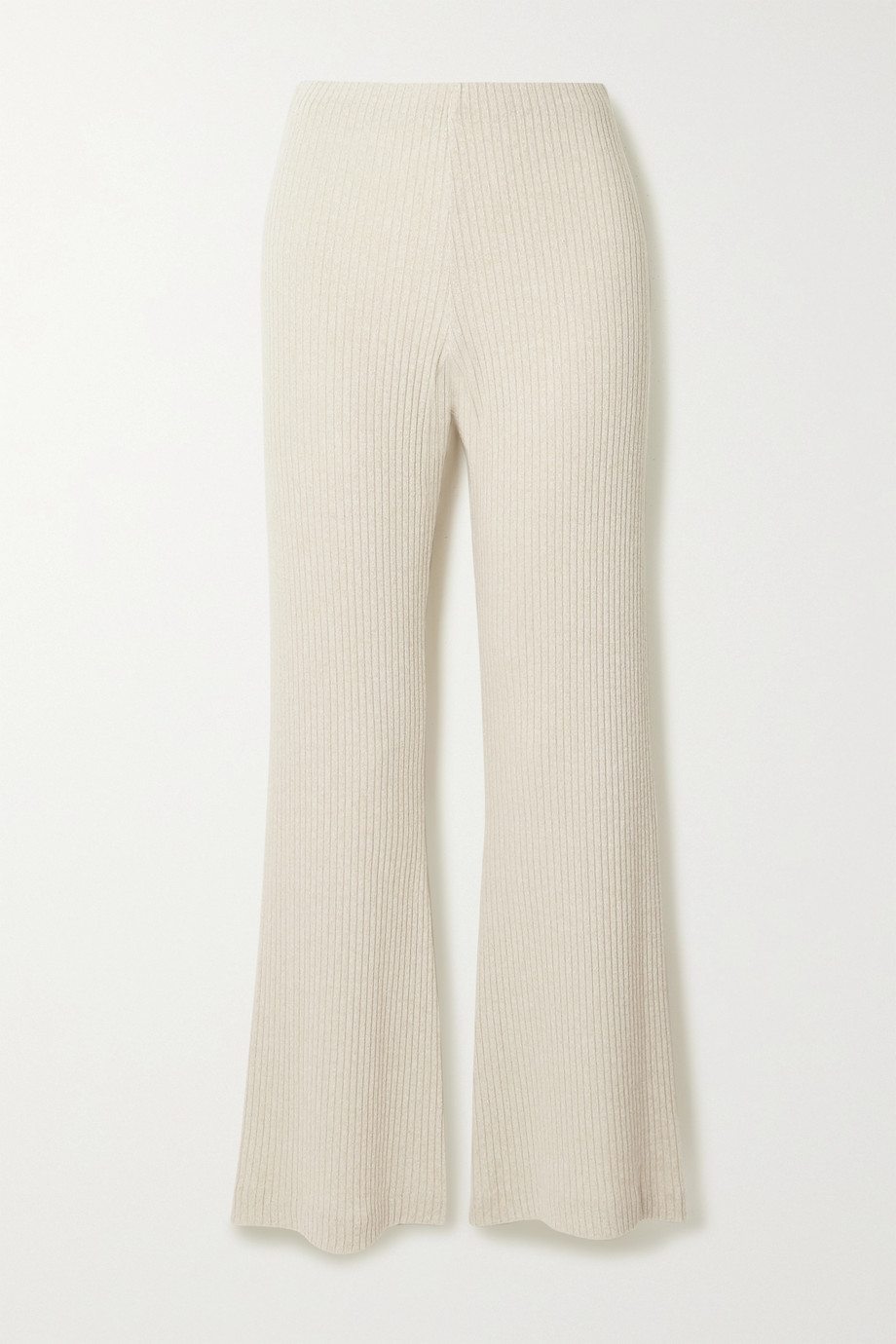 aaizél + NET SUSTAIN ribbed-knit flared pants
