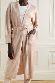 Eres Boy belted wool and cashmere-blend robe