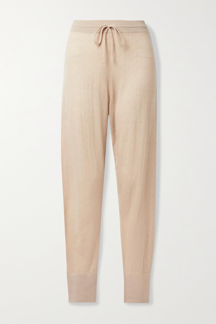 Eres Pimpant pointelle-knit cashmere track pants