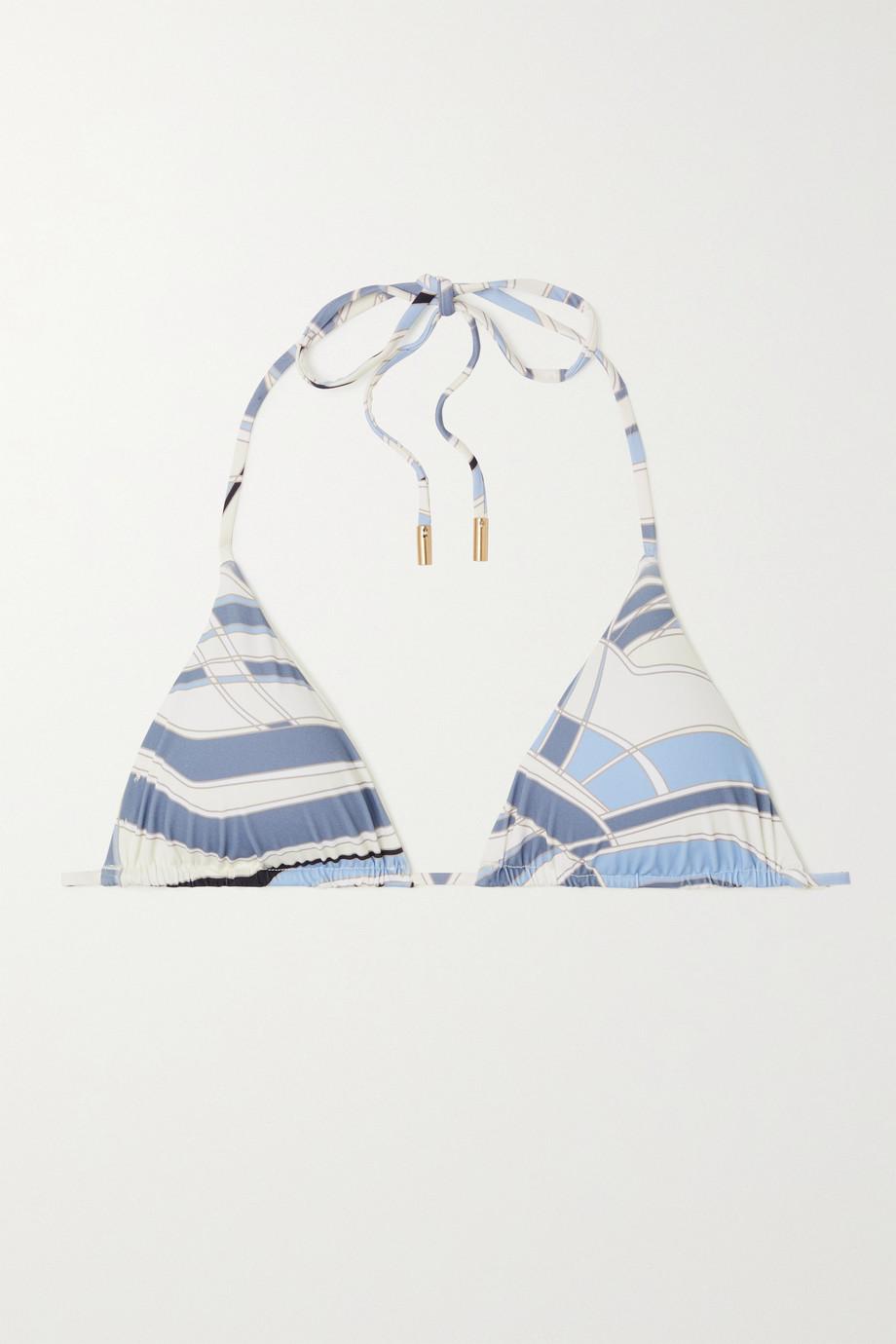 Cult Gaia Estella bedrucktes Triangel-Bikini-Oberteil