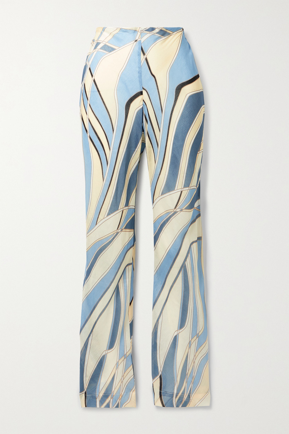 Cult Gaia Kersti printed cotton-blend gauze wide-leg pants