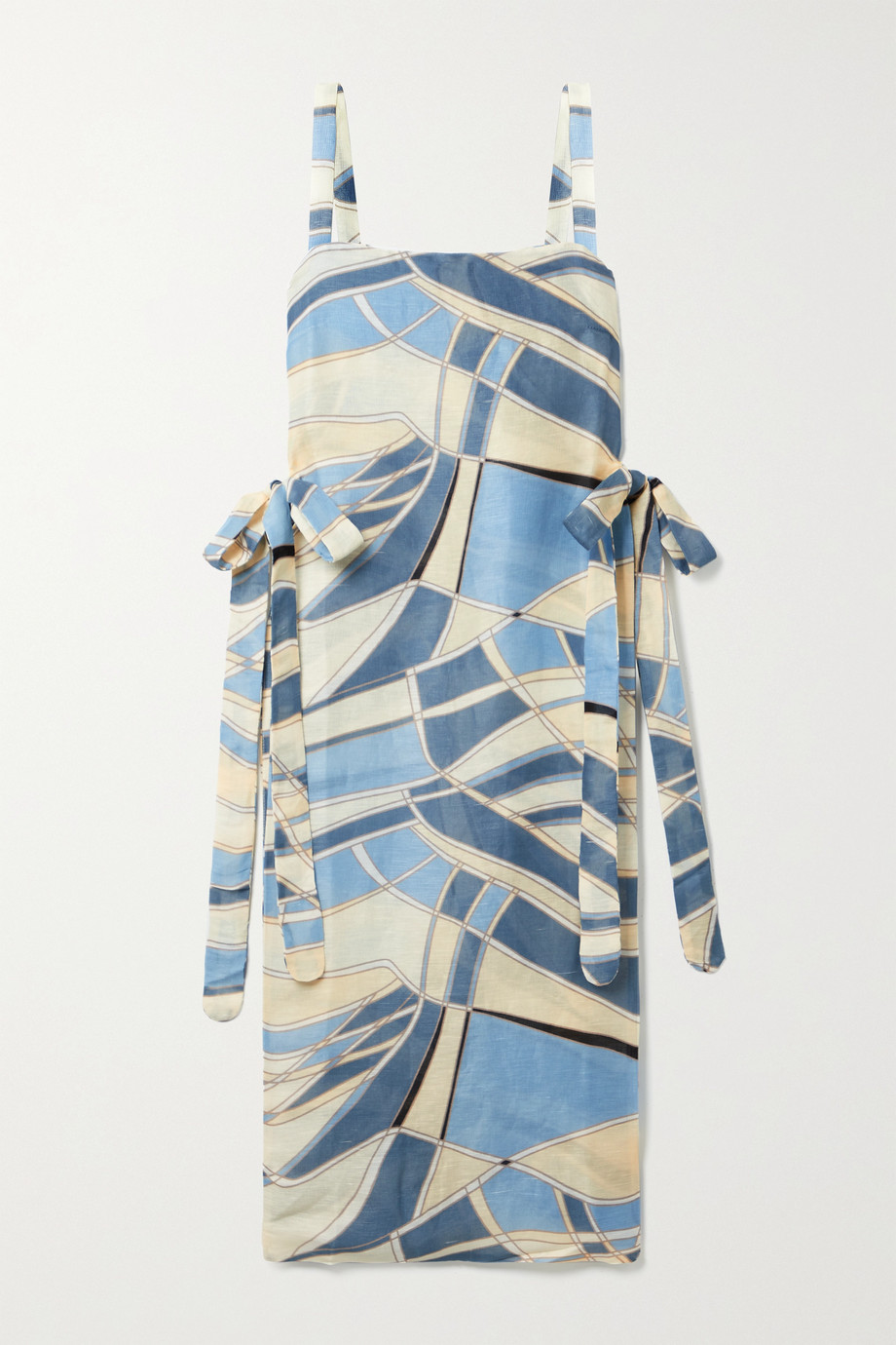 Cult Gaia Este tie-detailed printed cotton-blend gauze tunic