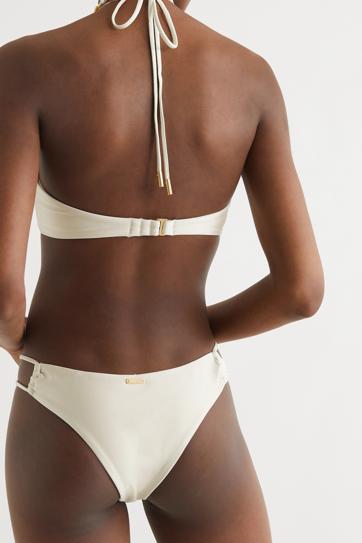 Cult Gaia Myra  embellished halterneck bikini top