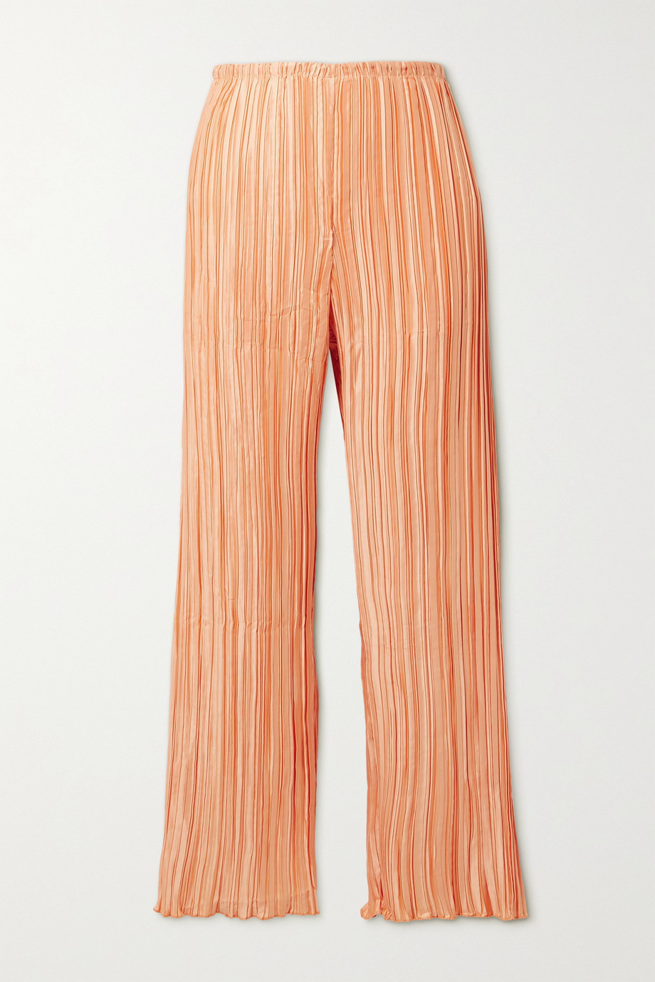 Cult Gaia Kersti plissé-satin wide-leg pants