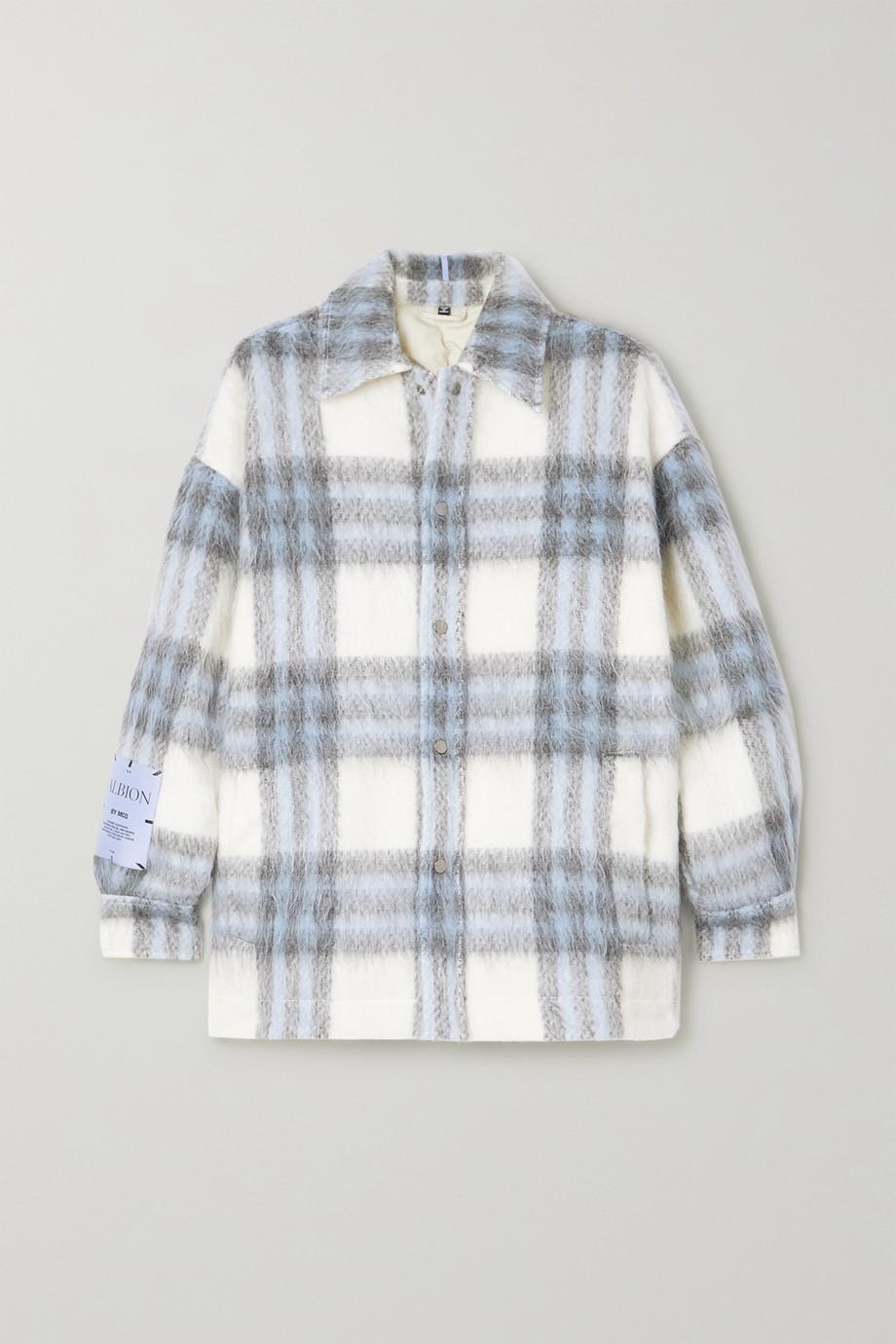 MCQ Albion oversized checked brushed-felt jacket
