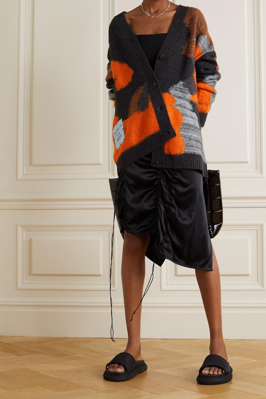 MCQ Oversized intarsia brushed wool-blend cardigan