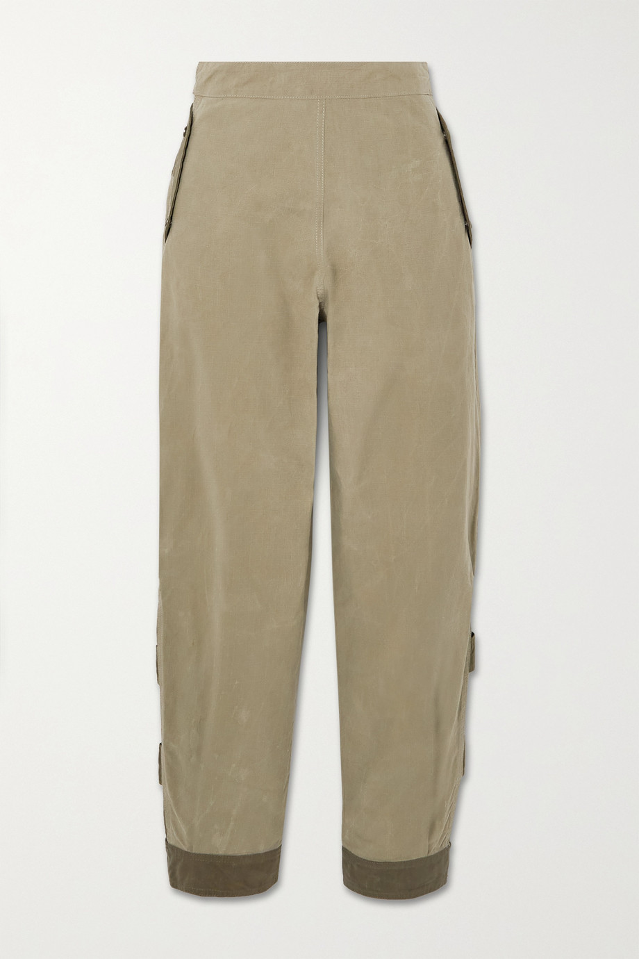 MCQ Albion two-tone cotton-ripstop tapered pants