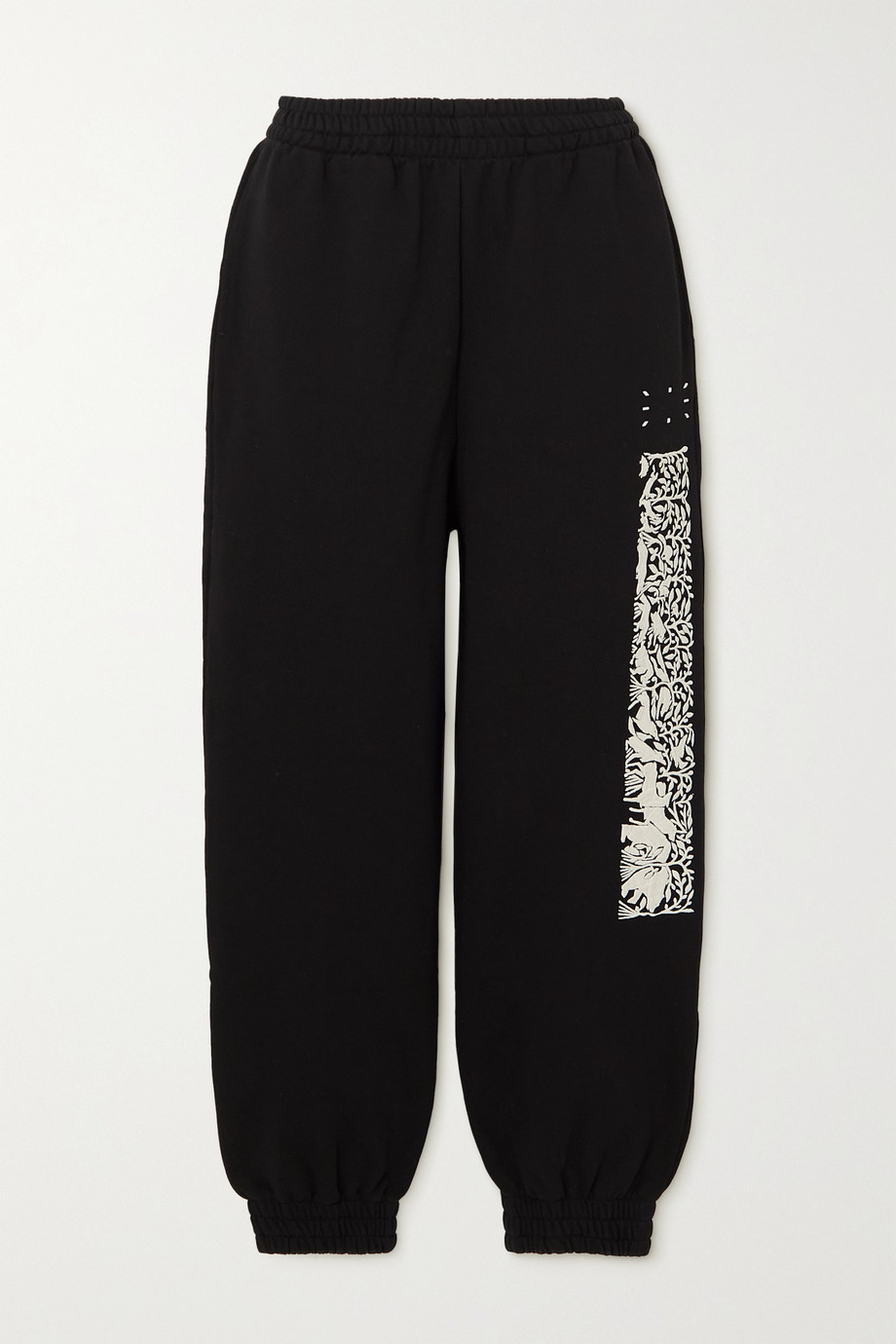 MCQ Walk Of Life appliquéd embroidered cotton-jersey track pants