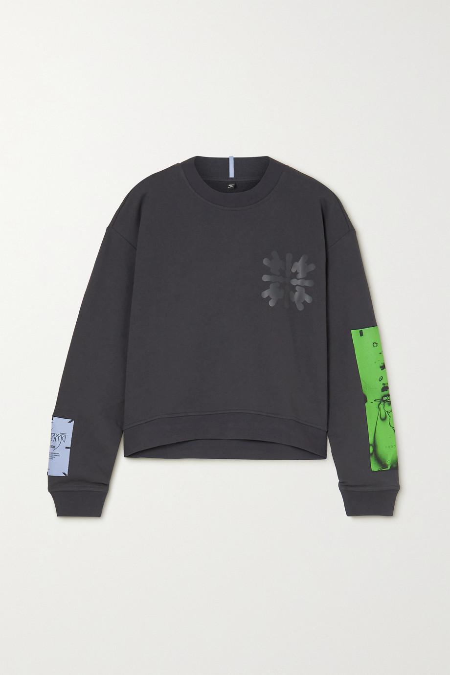 MCQ Dance appliquéd printed cotton-jersey sweatshirt