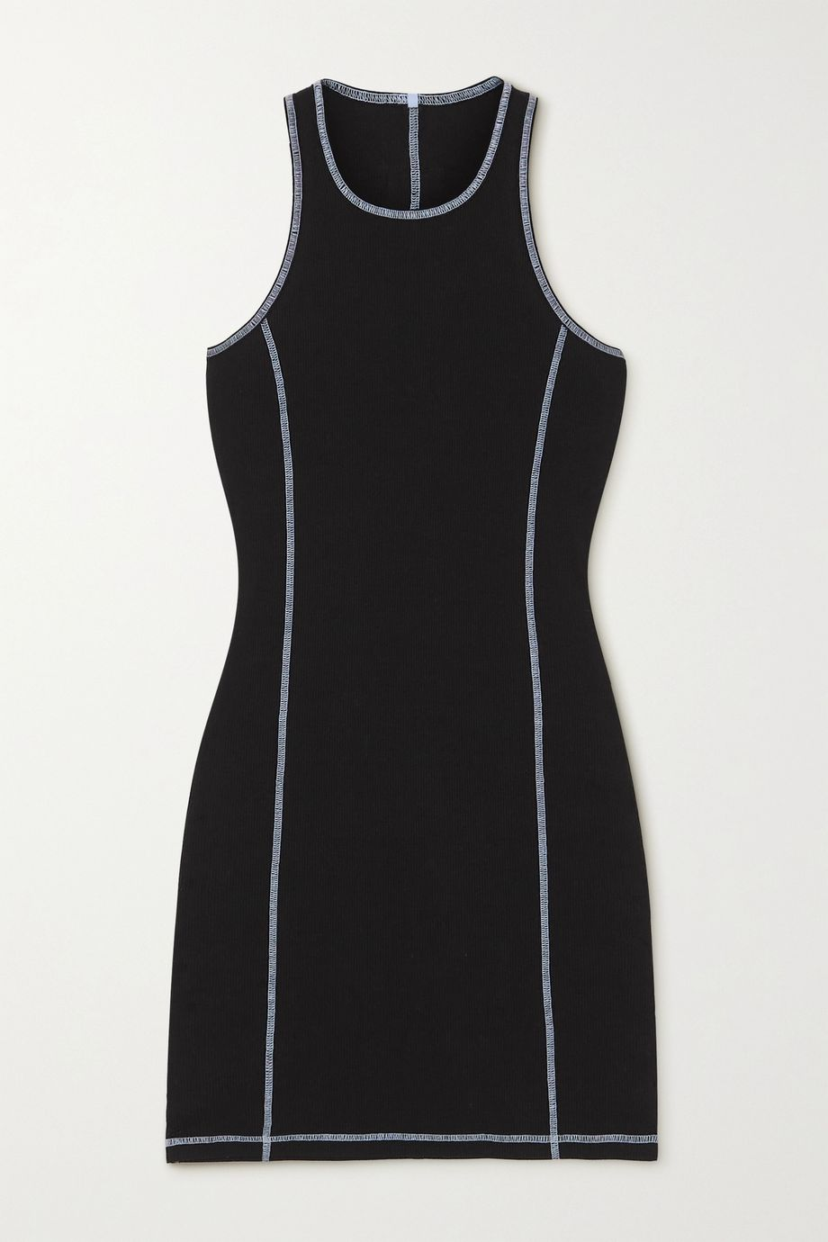MCQ Ribbed stretch-cotton jersey mini dress