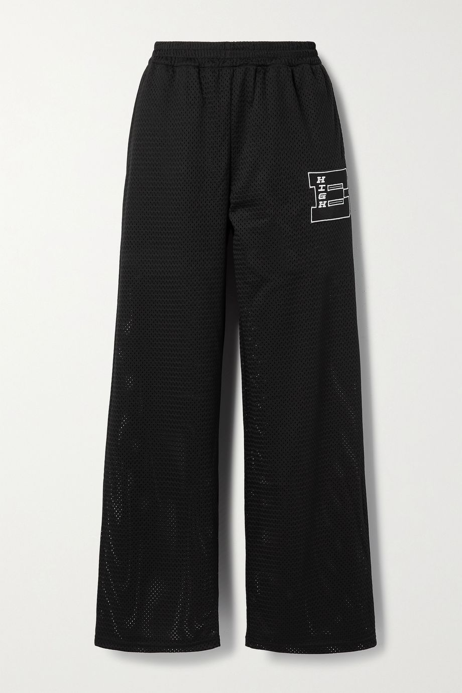 MCQ Eden High appliquéd printed mesh track pants