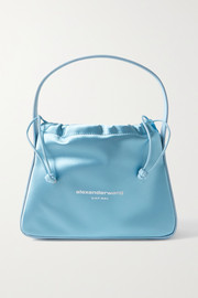 Alexander Wang Ryan leather-trimmed printed satin tote
