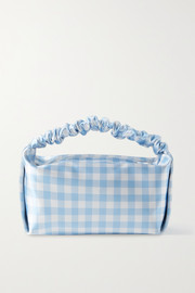 Alexander Wang Small gingham satin tote