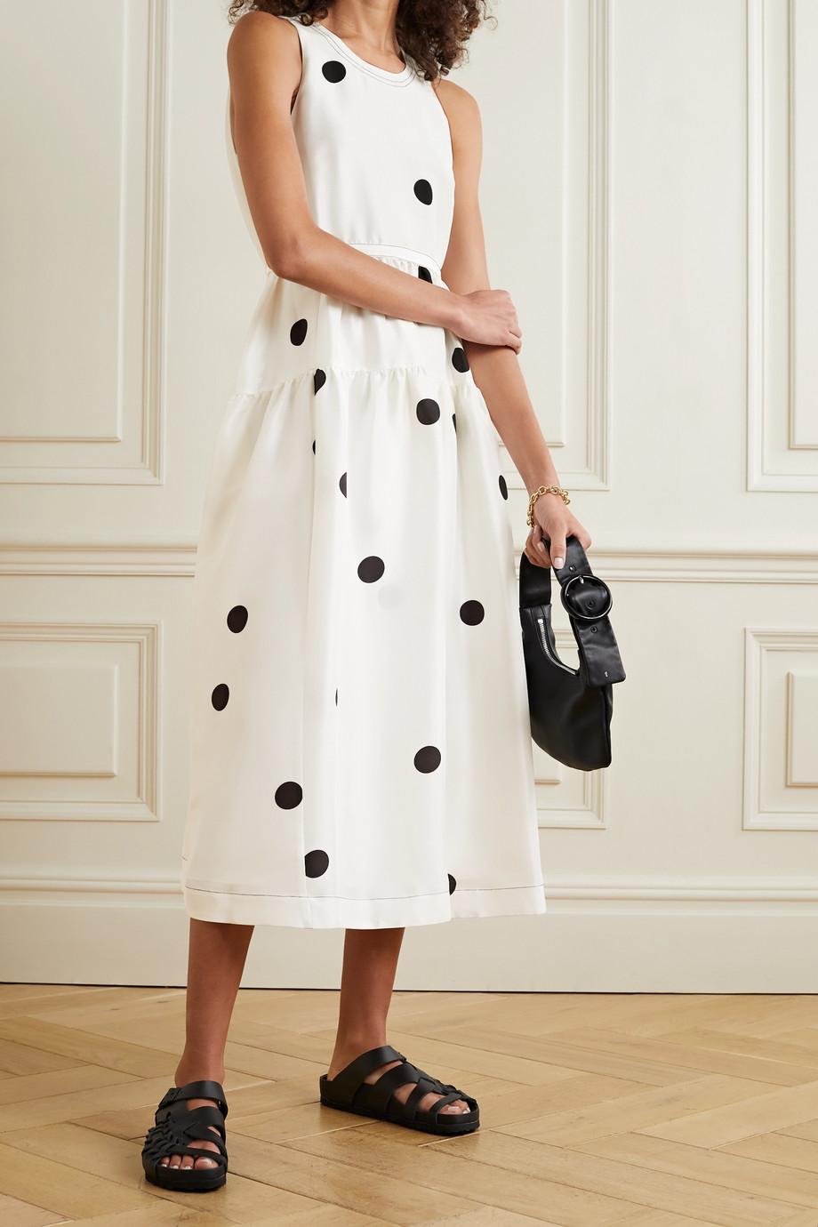 3.1 Phillip Lim Belted tiered polka-dot silk midi dress