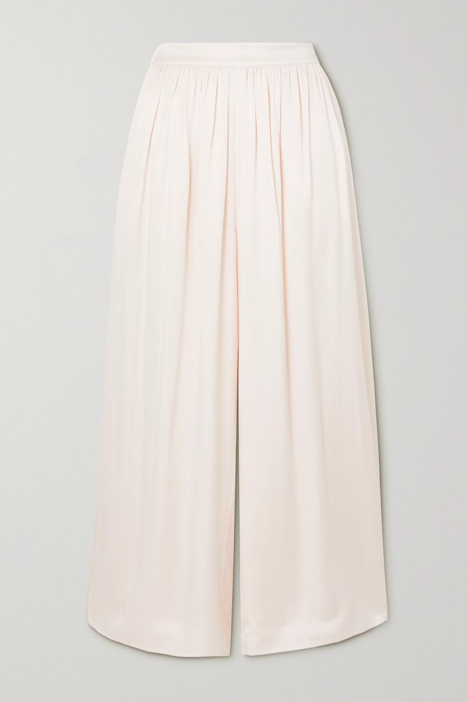 TOVE Nola washed-silk wide-leg pants