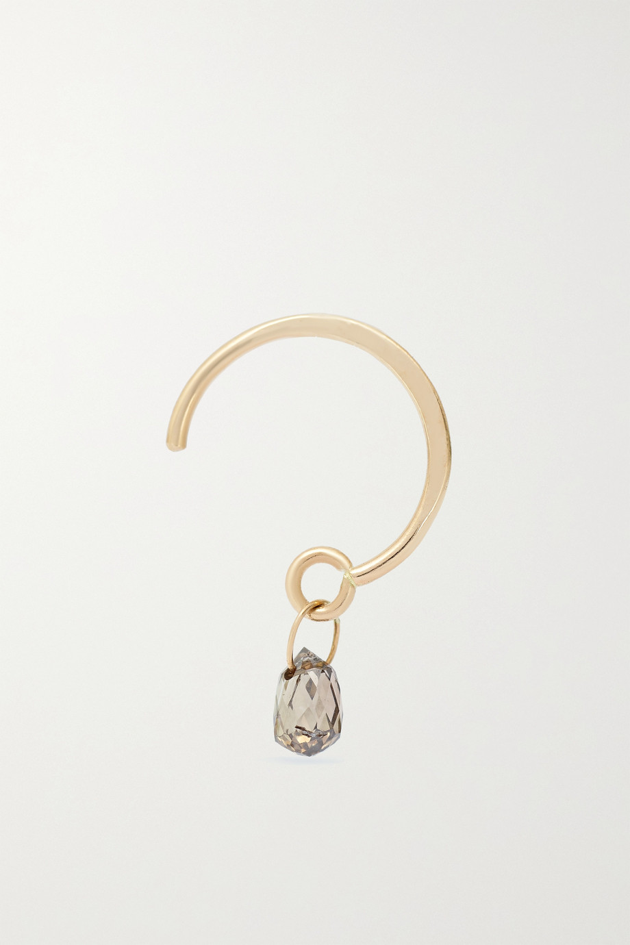 Melissa Joy Manning 14-karat gold diamond hoop earring