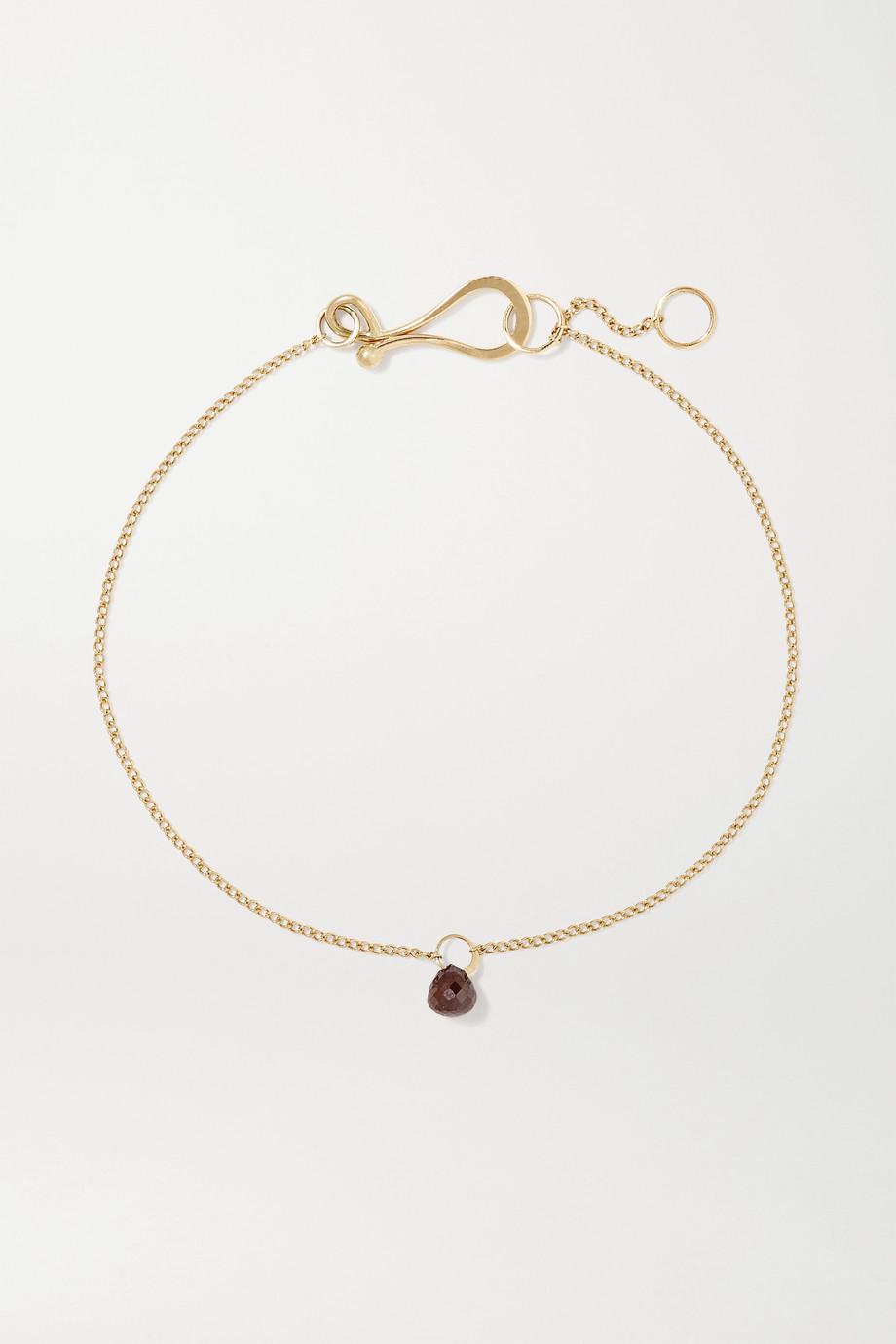 Melissa Joy Manning 14-karat gold diamond bracelet
