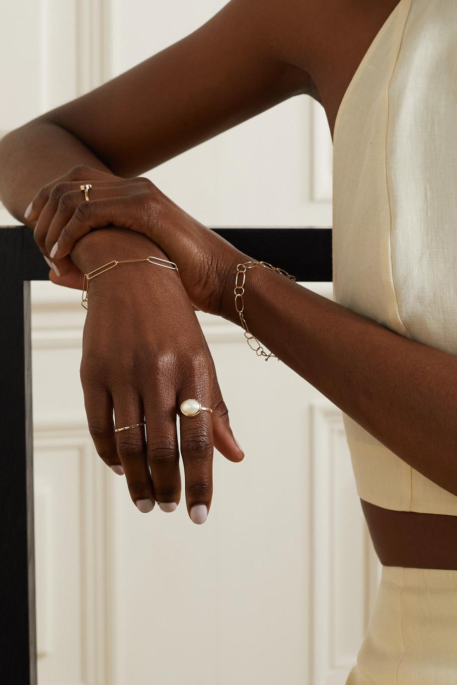 Melissa Joy Manning Recycled 14-karat gold pearl ring